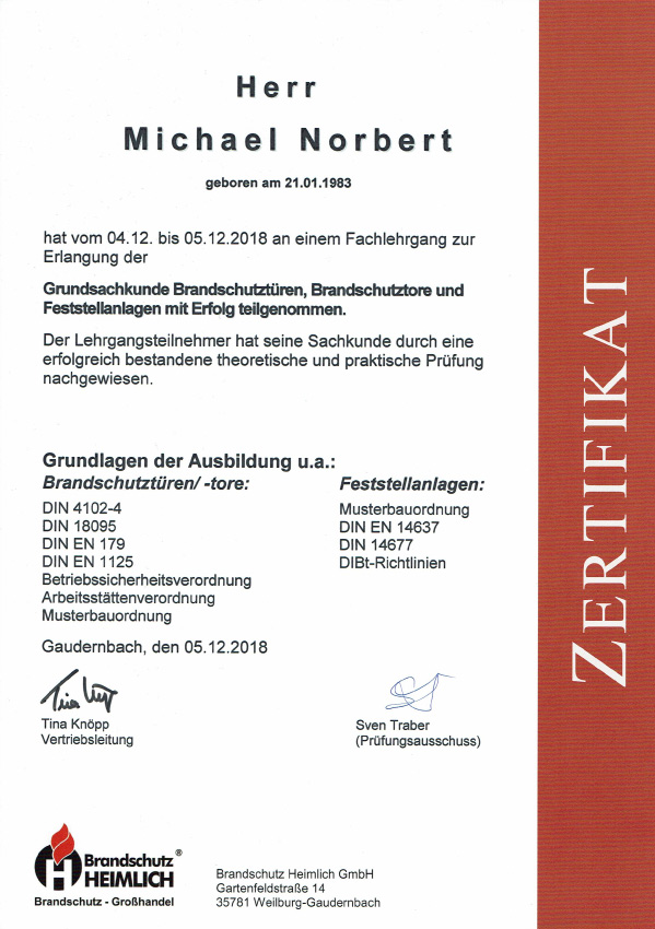 Zertifikat-Tueren